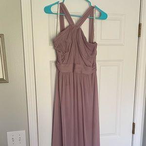 David's Bridal Bridesmaid Dress color: Quartz
